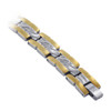 Men's Titanium Silver Tone Grand Magnetic Therapy Bracelet 8 inch