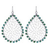 Turquoise color Beads Drop Earrings