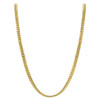 Gold Plated 925 Silver 3mm Curb/Cuban Chain Necklace