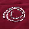 Men's Italian 925 Silver 5mm Figaro Link Chain Necklace