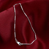 Italian 925 Silver Chain Anklet  9 to 10.5 inch With Lobster Claw Clasp