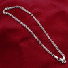 925 Sterling Silver 3mm Chain Ankle Bracelet with Lobster Clasp #BDA030