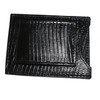 Cowhide Leather Lizard Print 10 Credit Card Holder Magnetic Money Clip Wallet Available in Black Brown