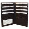 Mens Womens Leather Credit Card Holder 7 x 4 inch Wallet Black Color Wallet