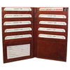 Mens Womens Leather Credit Card Holder 7 x 4 inch Burgundy Color Wallet