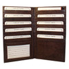 Mens Womens Leather Credit Card Holder 7 x 4 inch Wallet Brown Color Wallet