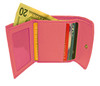 Genuine Lambskin Leather Credit Card Holder Pink Color Wallet