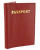 Red Leather Cover Passport Holder Travel 5.5 x 3.75 inch Wallet