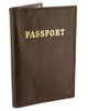 Brown Leather Cover Passport Holder Travel 5.5 x 3.75 inch Wallet