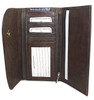 "New Genuine Cowhide Leather Checkbook 7.25"" x 4"" Wallet Available in Different Colors #MW302575"
