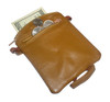 New Lambskin Leather Change Purse Money Wallet Available in Black and Tan Colors #MW30488