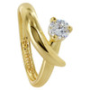 18k Gold Layered Cubic Zirconia 8mm Wide Ring Size 6.5