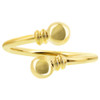 Gold Plated Spiral Magnetic Band