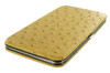 Fashionable and Functional Slim Brown Ostrich Wallet