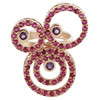 925 Silver Amethyst & Ruby Design Ring #CLRS120-7