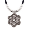 Flower Zinc Necklace 18 to 21.5 Inch with Chain #GN020