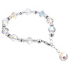 925 Sterling Silver Swarovski Elements 6mm Beads Bicon and Ball shape faceted Crystal Handmade Bracelet 8 inch Long