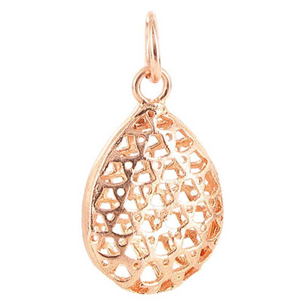 Copper Finish 17mm x 22mm Oval Shaped Intricate Polish Finished Dangle Pendant #RSPC002