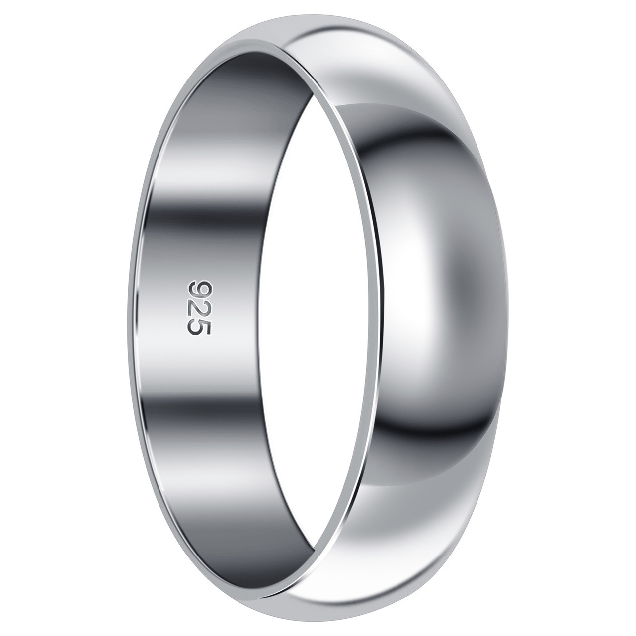 Sterling Silver Wedding Bands.925 Sterling Silver 6mm Wedding Band Bdr1018