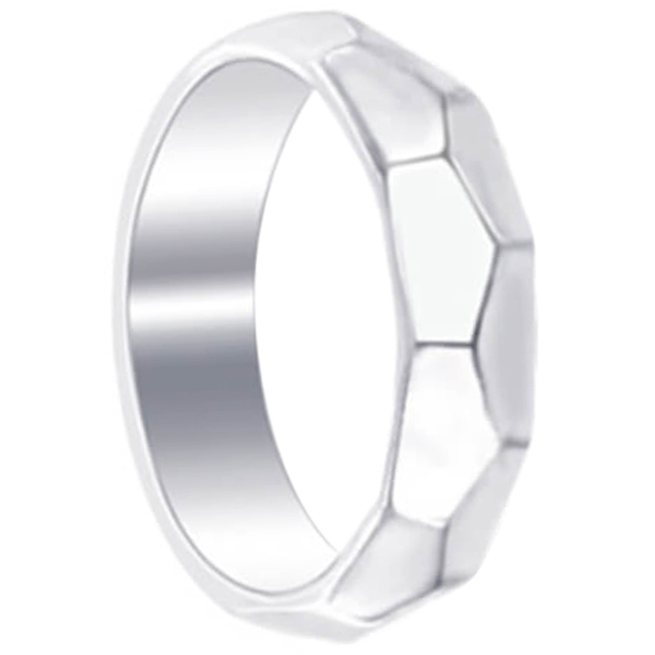 925 Sterling Silver Faceted 5mm Wedding Band