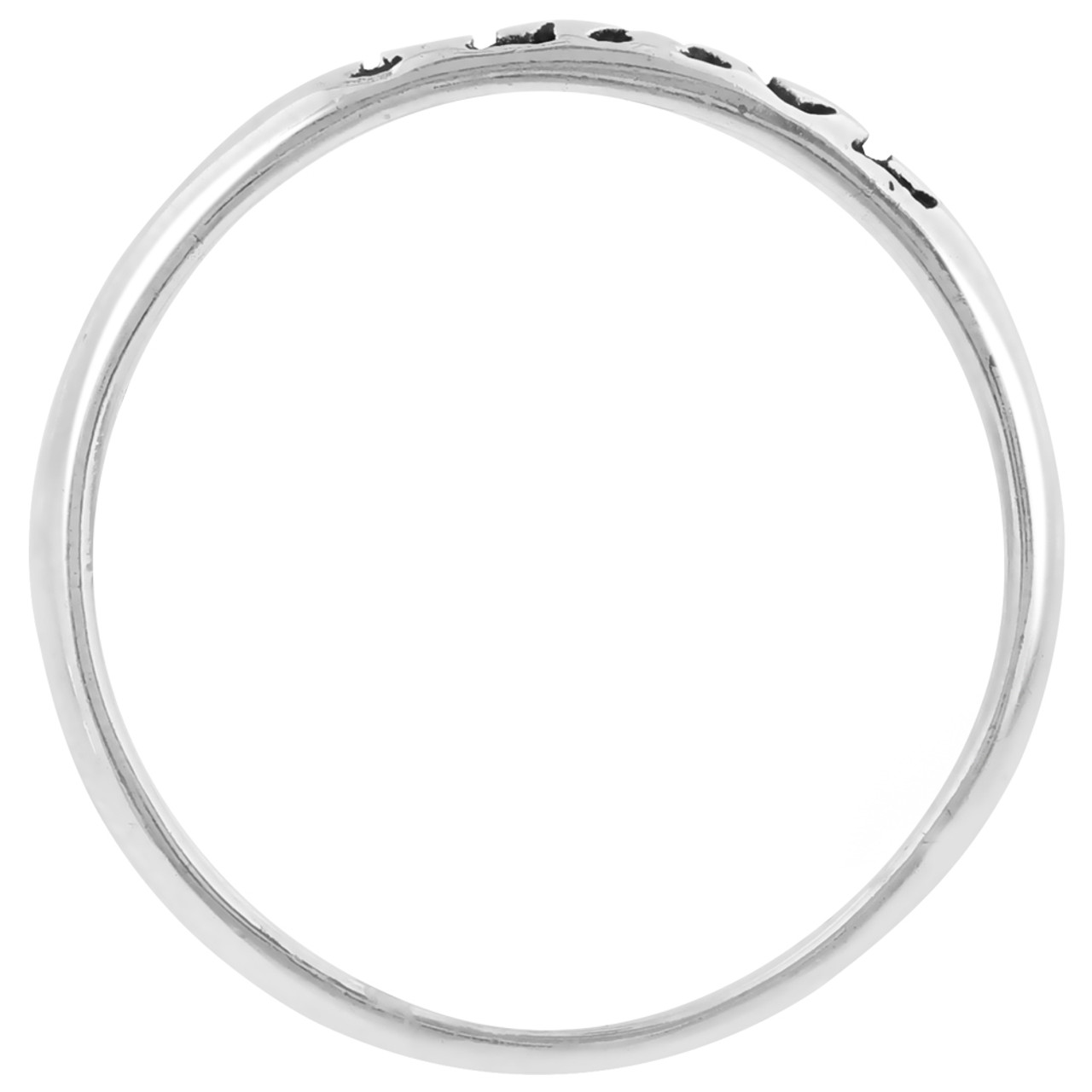 Sterling Silver Peace Engraved Band