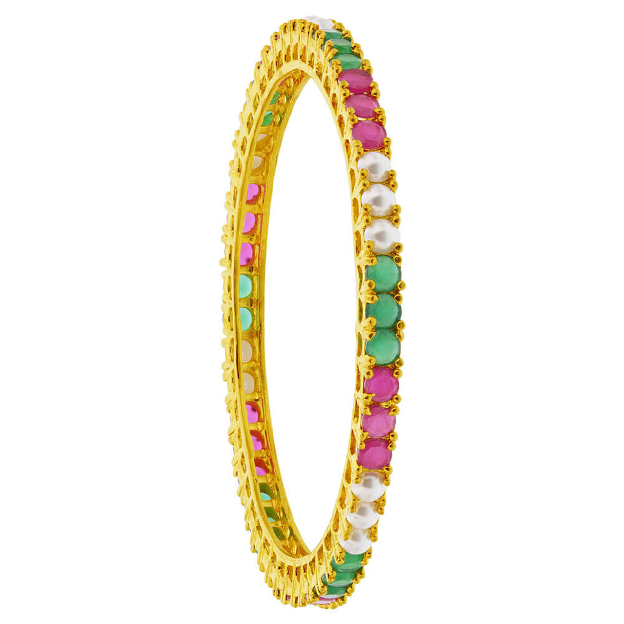 Ruby and Emerald Bangle Bracelets