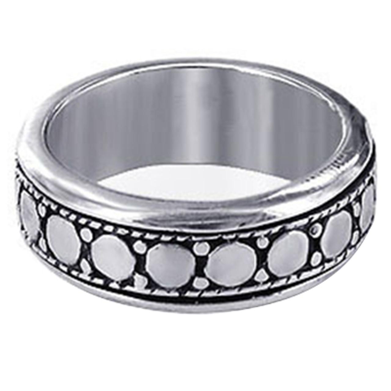 Mens Sterling Silver Spinning Band