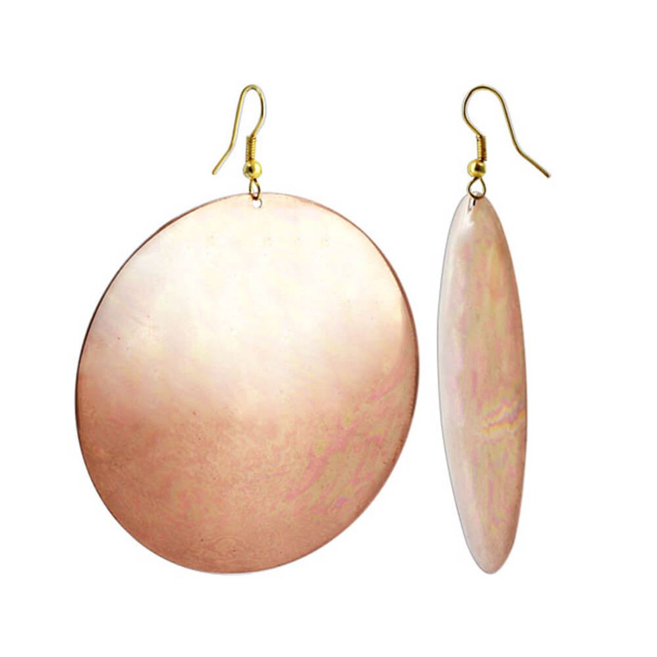 Disk French ear wire Drop Earrings