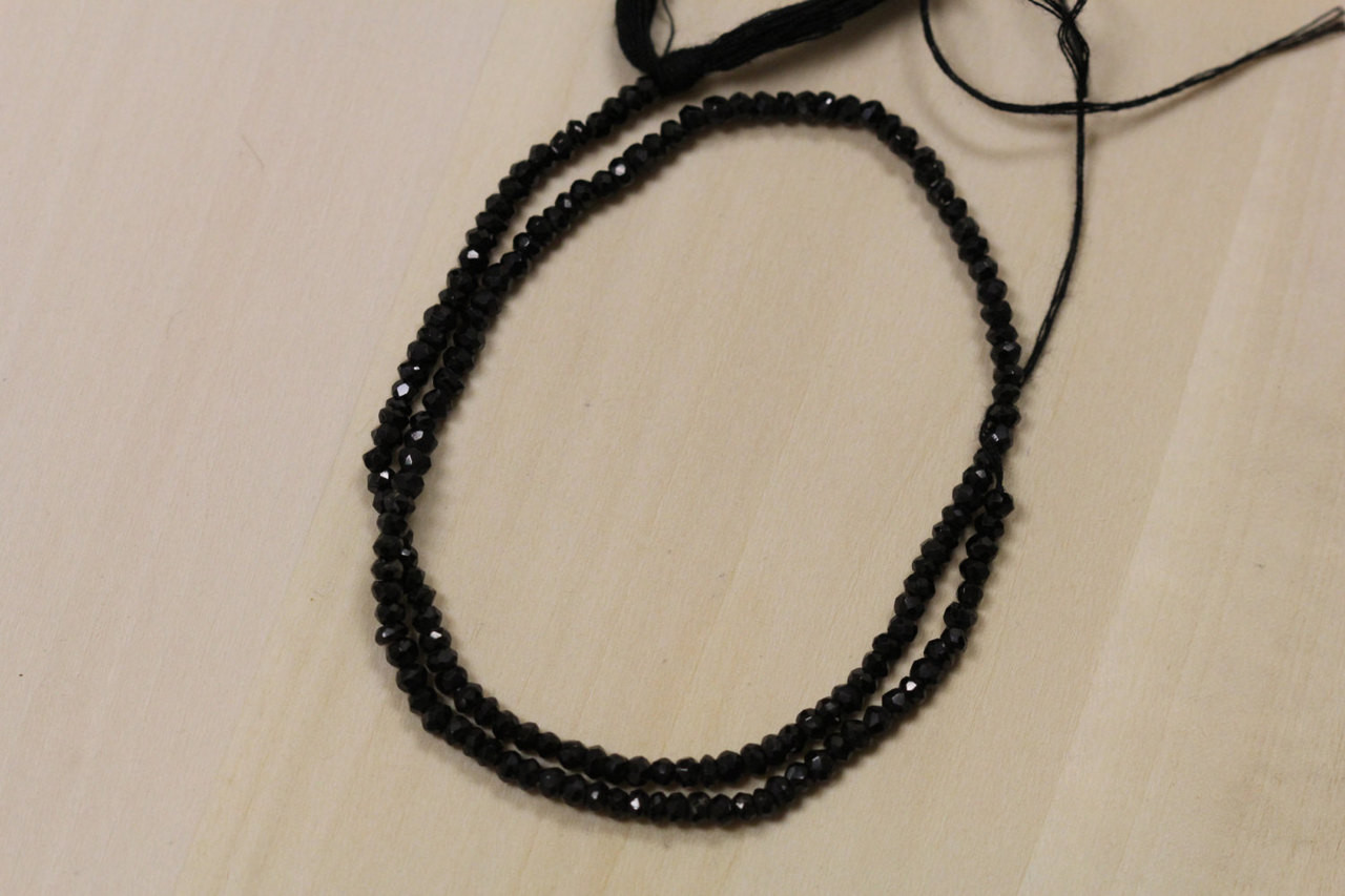 Black Spinel Israel Cut Beads for Jewelry Making