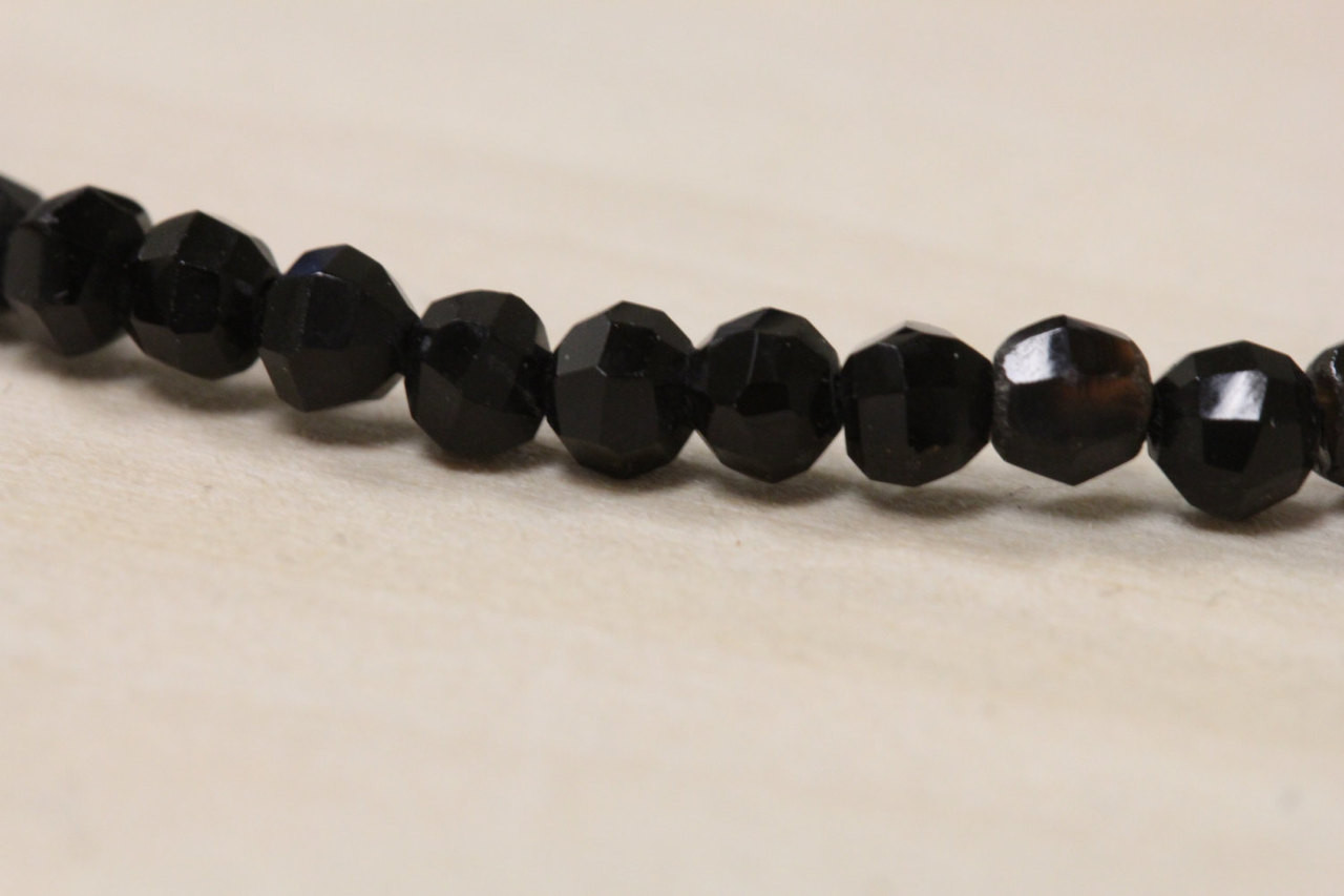 Faceted Black Onyx Beads for Jewelry Making