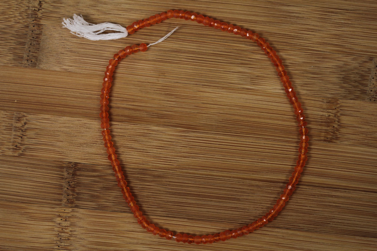 Faceted Carnelian Briolette Cut Beads for Jewelry Making