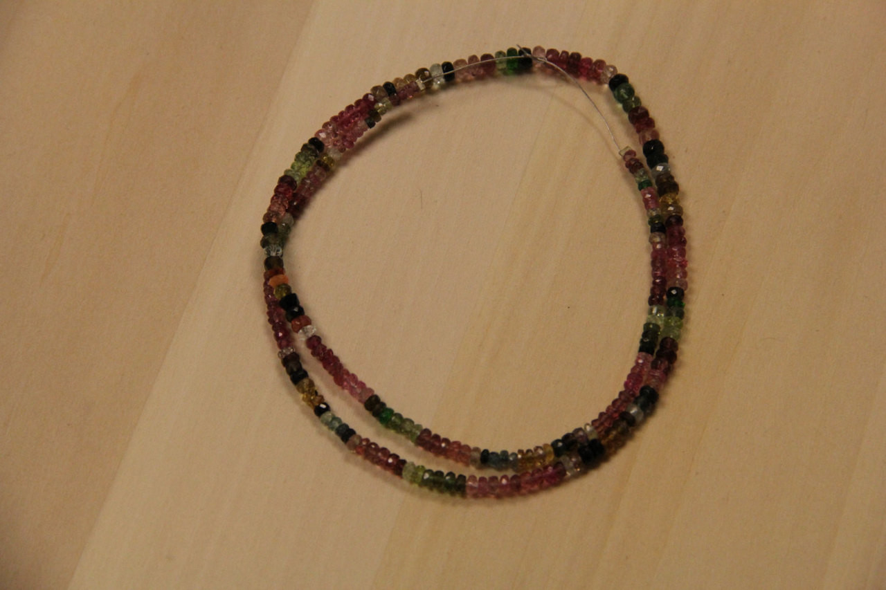 Multi-colored Tourmaline Beads for Jewelry Making