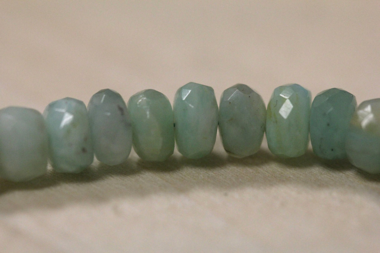 Faceted Peruvian Opal Beads for Jewelry Making