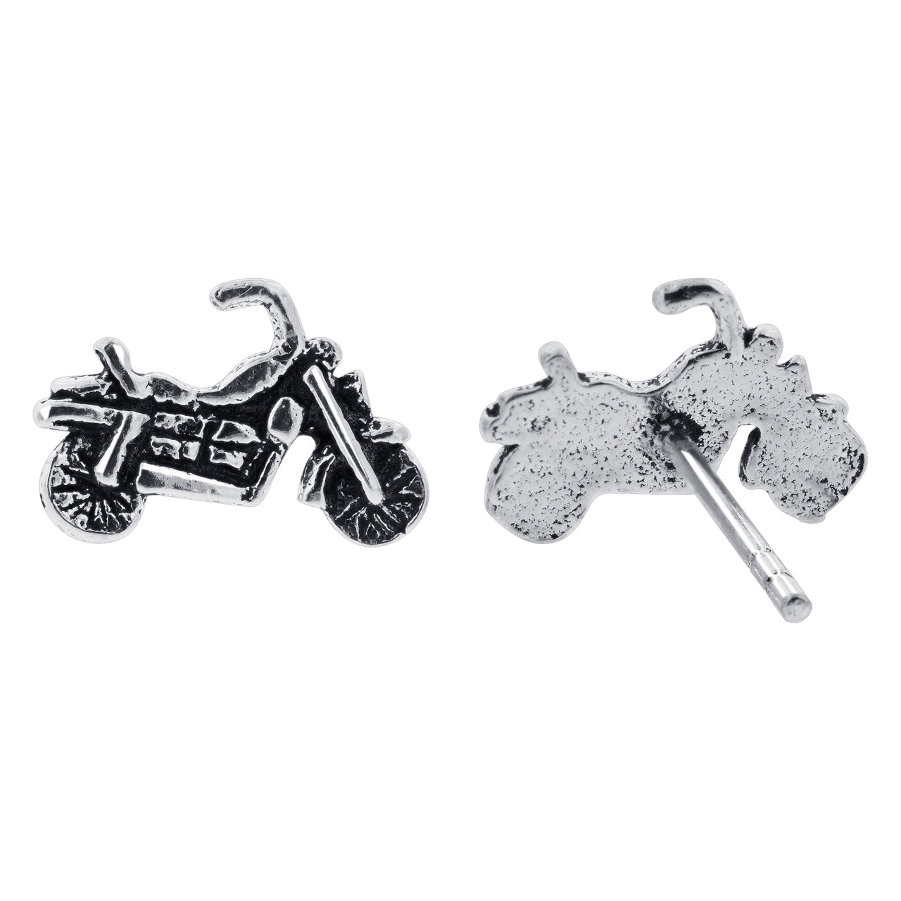 Motorcycle Kids Stud Earrings