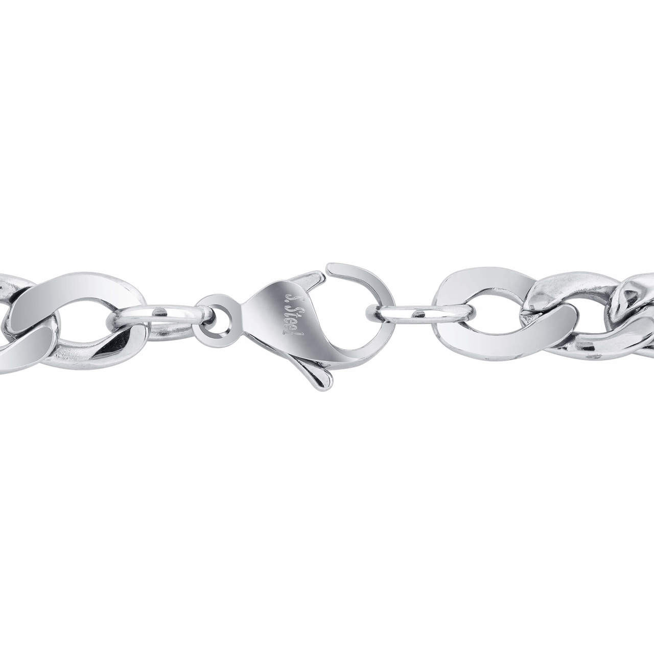 Men's Stainless Steel 7.5mm Figaro Chain Necklace