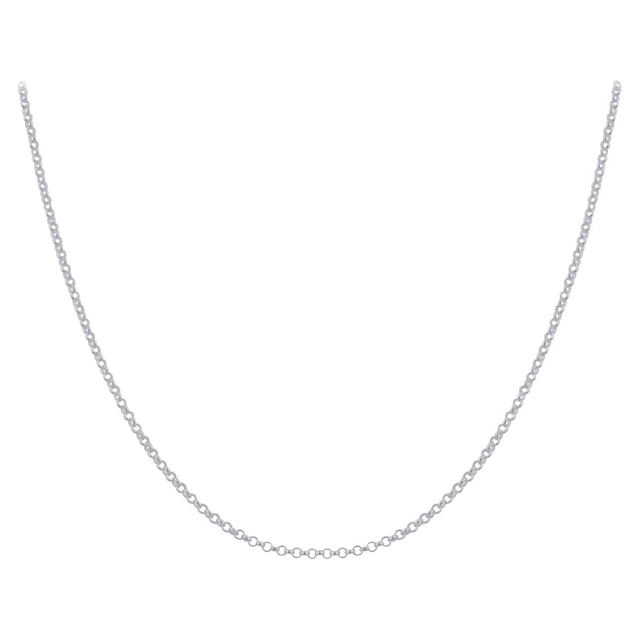 Rolo Chain Necklace Lobster Clasp