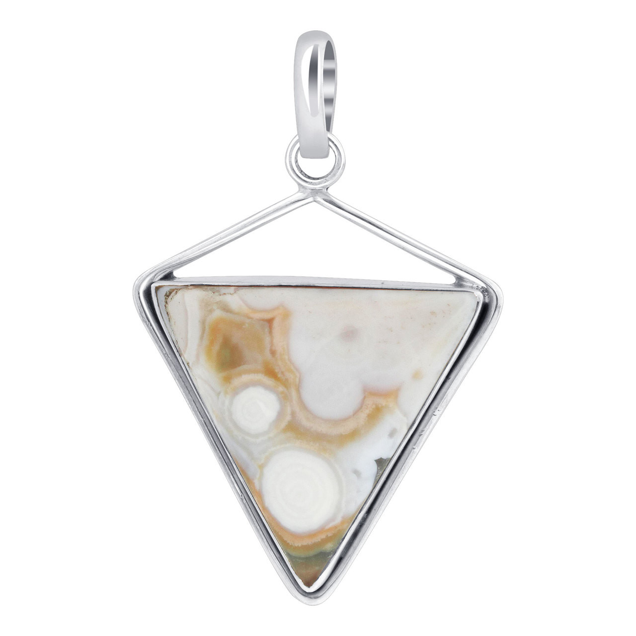 Triangle Mother of Pearl Bezel Setting Pendant