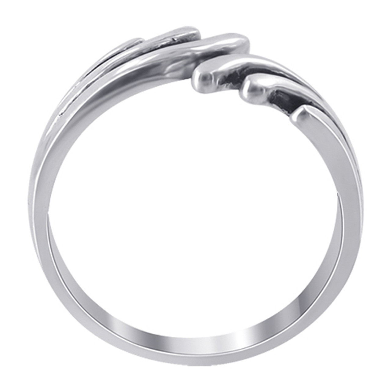925 Sterling Silver 8mm Wings Ring