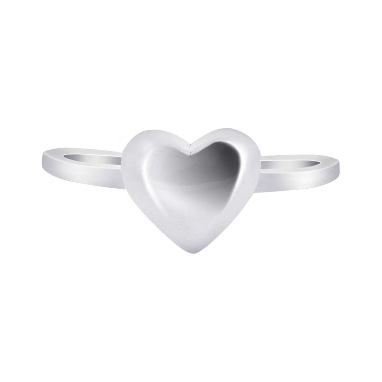 925 Sterling Silver 6mm Heart Ring