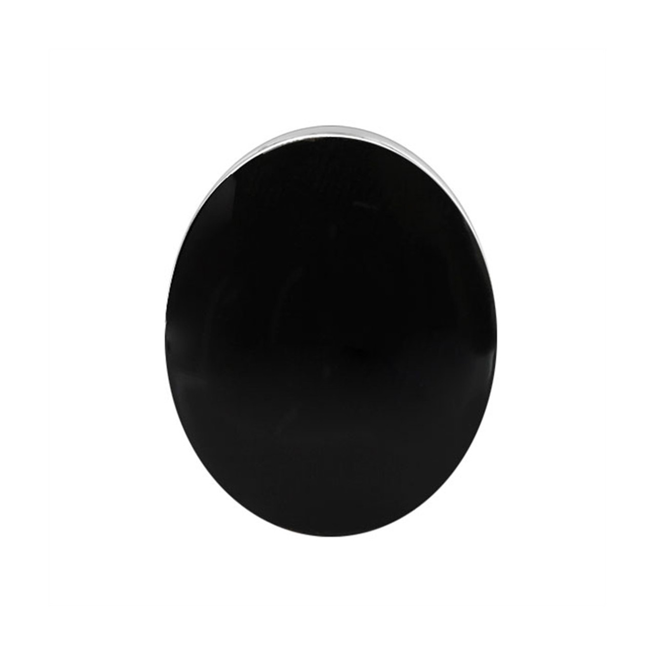 925 Sterling Silver Oval Black Onyx Gemstone Women's Ring