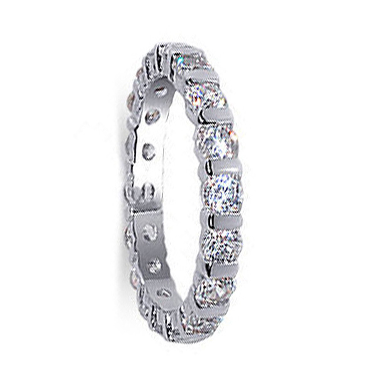 Cubic Zirconia 3mm Eternity Band