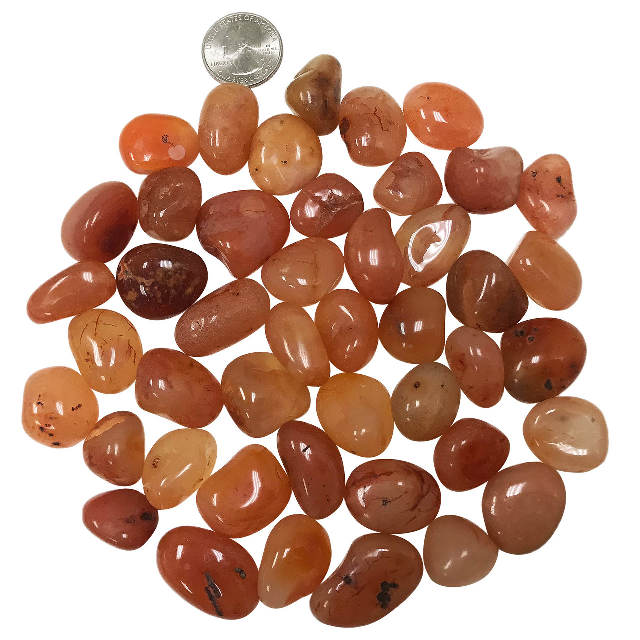 Carnelian Tumbled Gemstones