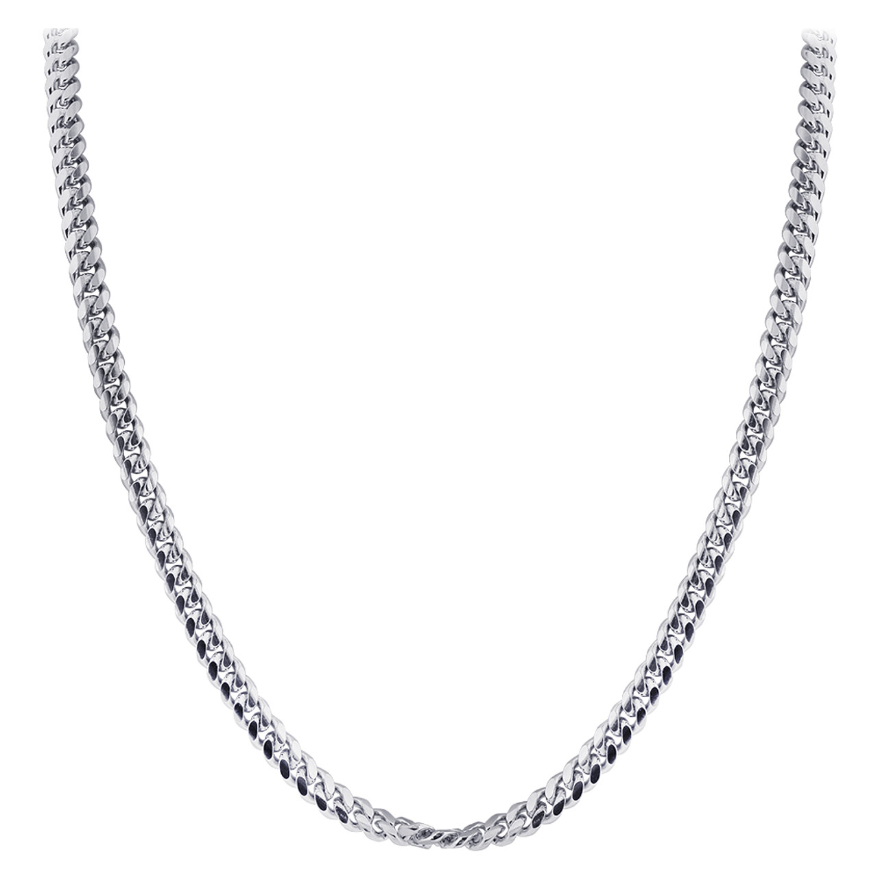 Sterling Silver with Rhodium Plating Chain Necklace