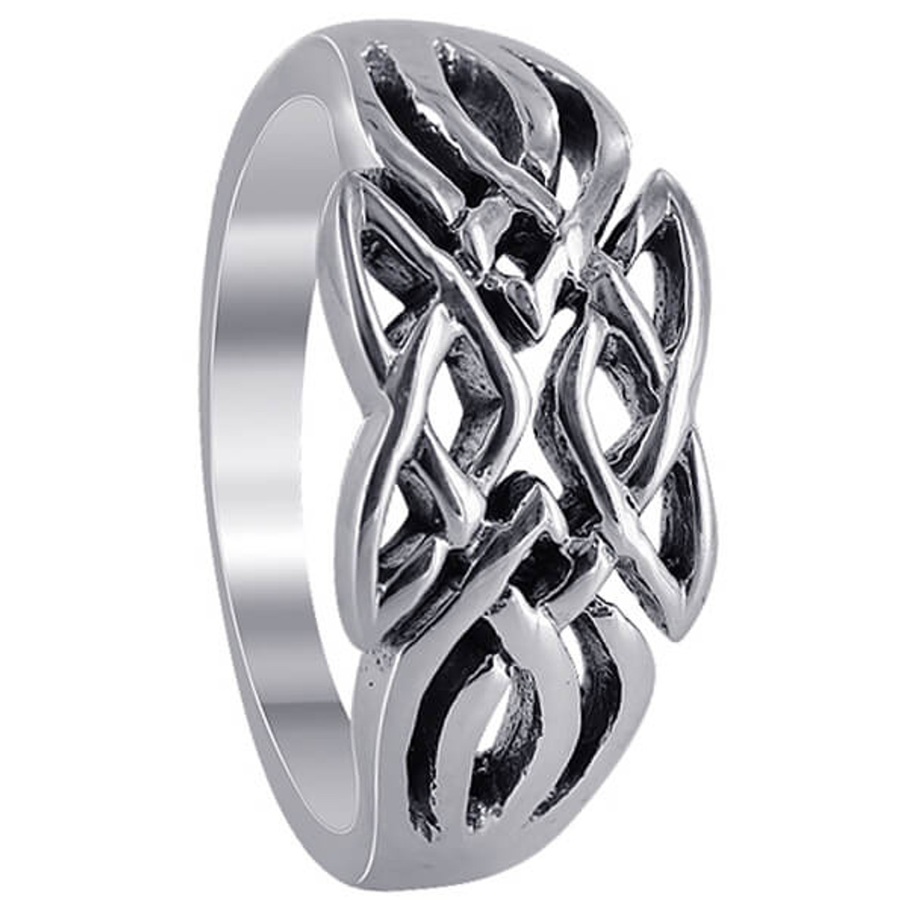 Sterling Silver Knot Design Ring