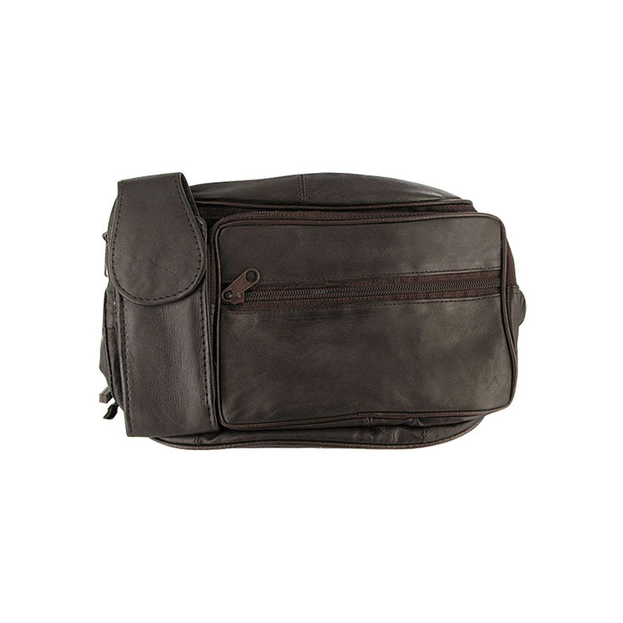 Lambskin Leather Fanny Pack with Cell Phone Pouch