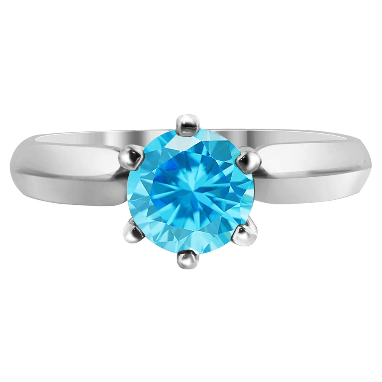 Sterling Silver CZ Solitaire 3mm Ring