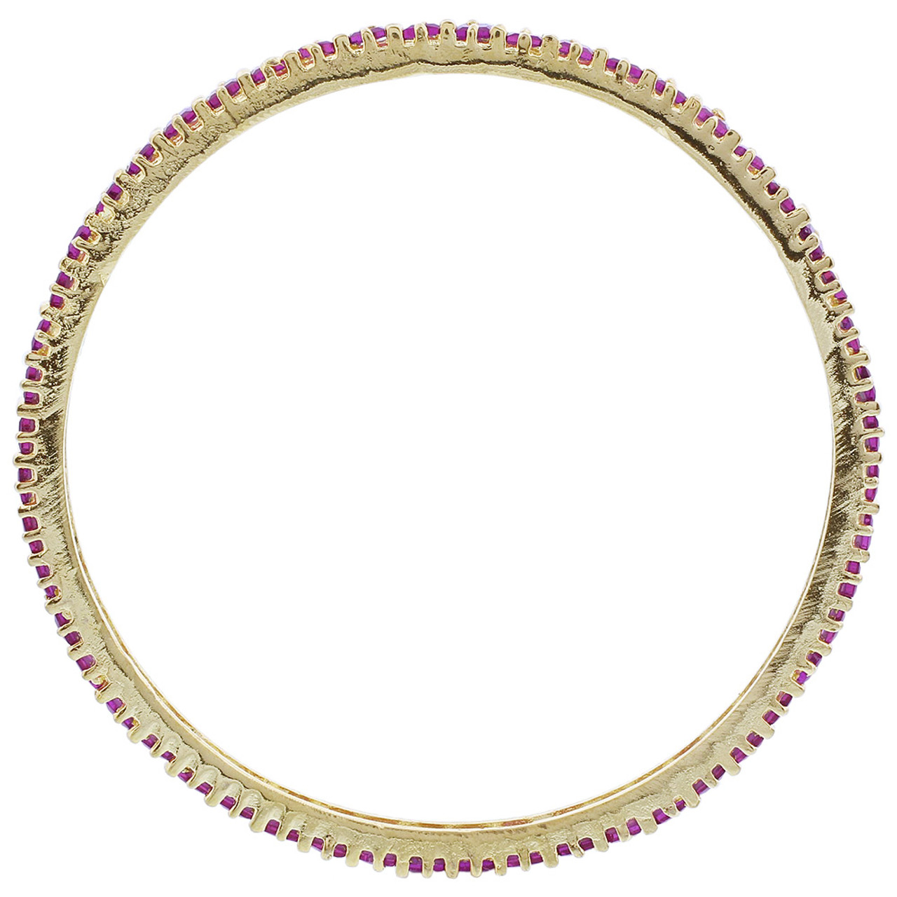 Gold Plated Ruby Glass Bollywood Indian Bangle Bracelet