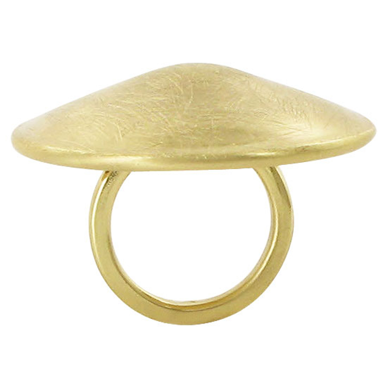 Gold Plated Round Designer Scratch Style Ring