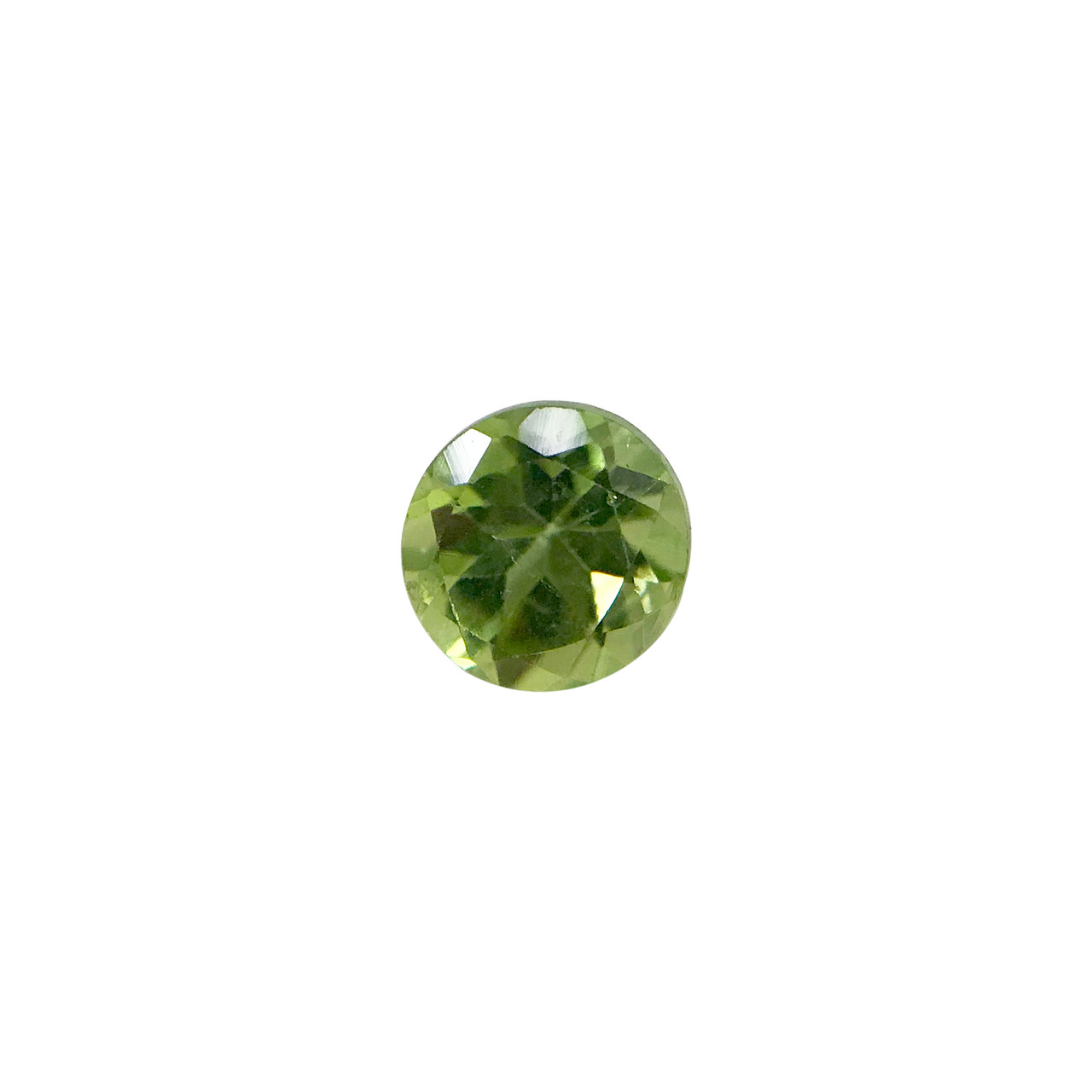 Round Genuine Natural Peridot Faceted Gemstone