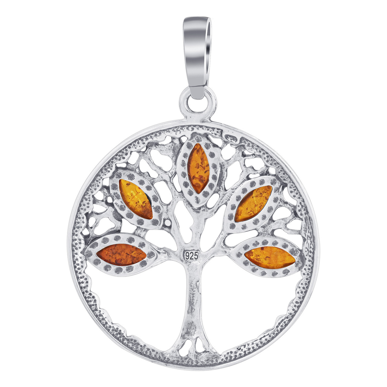 Tree of Life Pendant with Rich Marquise Cut